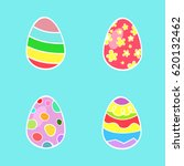 set of colorfull  easter eggs | Shutterstock .eps vector #620132462