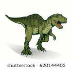 illustration of tyrannosaurus... | Shutterstock .eps vector #620144402
