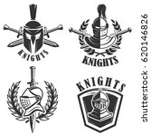 set of the emblems with knights ... | Shutterstock .eps vector #620146826