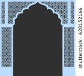 vector moroccan stars arch... | Shutterstock .eps vector #620152166