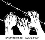 vector silhouette of the barbed ...