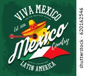 mexico or mexican sign with... | Shutterstock .eps vector #620162546
