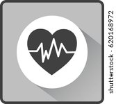 diagnosis of heart icon | Shutterstock .eps vector #620168972