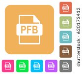 pfb file format flat icons on... | Shutterstock .eps vector #620173412