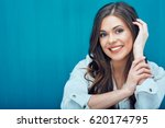 face portrait of young woman... | Shutterstock . vector #620174795