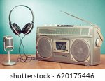 retro stereo portable radio... | Shutterstock . vector #620175446