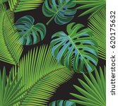 tropical pattern. | Shutterstock .eps vector #620175632