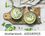 spring detox broccoli green... | Shutterstock . vector #620185925