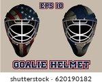goalie helmet for the game of... | Shutterstock .eps vector #620190182