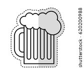 beer in jar isolated icon | Shutterstock .eps vector #620200988