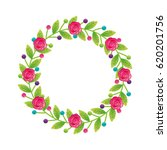 floral frame decorative icon | Shutterstock .eps vector #620201756