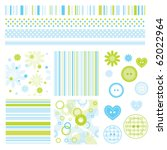 Stock vector seamless baby patterns with flowers and lines lovely templates for scrapbook craft home 62022964
