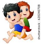vector illustration of happy... | Shutterstock .eps vector #620240708