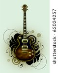 abstract with guitar and design ... | Shutterstock .eps vector #62024257