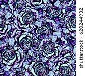 roses.seamless background.... | Shutterstock . vector #620244932