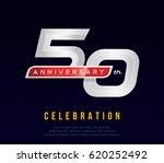 50 years anniversary invitation ... | Shutterstock .eps vector #620252492