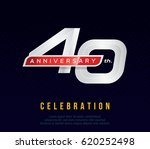 40 years anniversary invitation ... | Shutterstock .eps vector #620252498