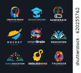 brain logo and creative... | Shutterstock .eps vector #620255762