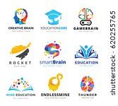 brain logo and creative... | Shutterstock .eps vector #620255765