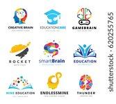 brain logo and creative... | Shutterstock .eps vector #620255765