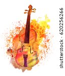 a watercolour and ink drawing... | Shutterstock . vector #620256266