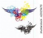 graffiti heart | Shutterstock .eps vector #62025670