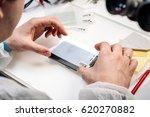 installation of protective... | Shutterstock . vector #620270882