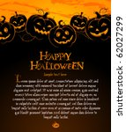 halloween illustration with... | Shutterstock .eps vector #62027299