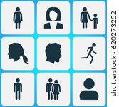 person icons set. collection of ... | Shutterstock .eps vector #620273252