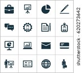 trade icons set. collection of... | Shutterstock .eps vector #620273642