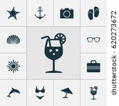 season icons set. collection of ... | Shutterstock .eps vector #620273672