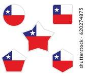 chile flag   Shutterstock .eps vector #620274875