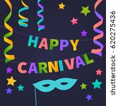 happy carnival card.... | Shutterstock .eps vector #620275436
