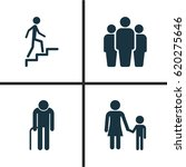 people icons set. collection of ... | Shutterstock .eps vector #620275646