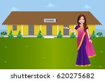 a school teacher in india... | Shutterstock .eps vector #620275682