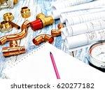 engineering heating. concept... | Shutterstock . vector #620277182