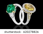 Emerald And Sapphire Ring With...
