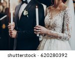 happy bride and stylish groom... | Shutterstock . vector #620280392