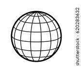 World   Globe Vector Icon Logo...