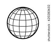 world   globe vector icon logo. ... | Shutterstock .eps vector #620283632