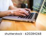 closeup of a female hands busy... | Shutterstock . vector #620284268