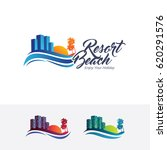 resort  vector logo template | Shutterstock .eps vector #620291576