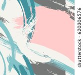 pastel pink blue grey brush... | Shutterstock .eps vector #620306576