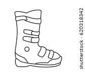 snowboard sport equipment | Shutterstock .eps vector #620318342