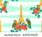 Seamless Paris Pattern With...