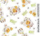 vector cartoon jack russell...   Shutterstock .eps vector #620320352