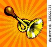 horn comic book pop art retro... | Shutterstock .eps vector #620321786