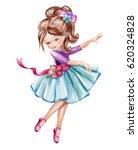 Watercolor Illustration  Cute...