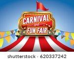 carnival fun fair | Shutterstock .eps vector #620337242