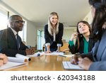 group meeting at nonprofit...   Shutterstock . vector #620343188